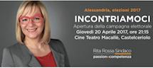 Rita Rossa: INCONTRIAMOCI Apertura della campagna elettorale