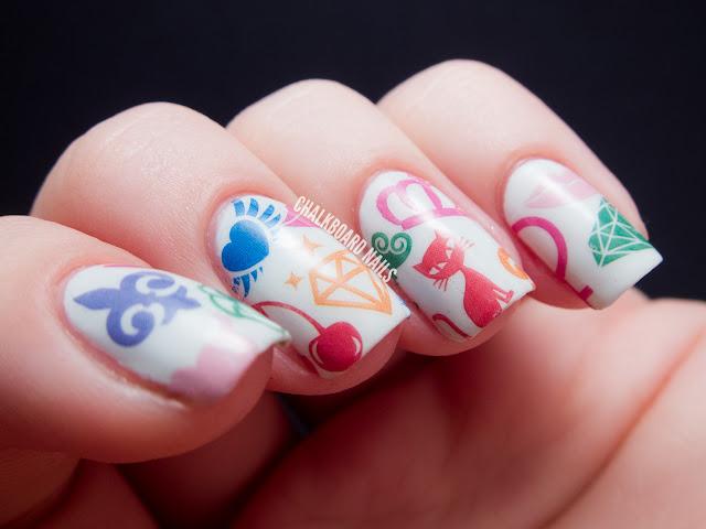 Chalkboard Nails: bigRuby Nail Tattoo manicure