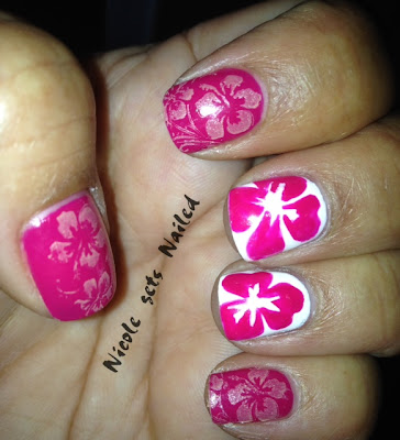 Pink Hibiscus Bundle Monster Stamping Plates