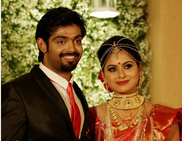 Actress Sruthi Lekshmi married Dr Avin Anto | Wedding Reception Photos
