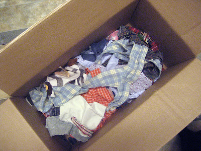 fabric scraps destined for landfill