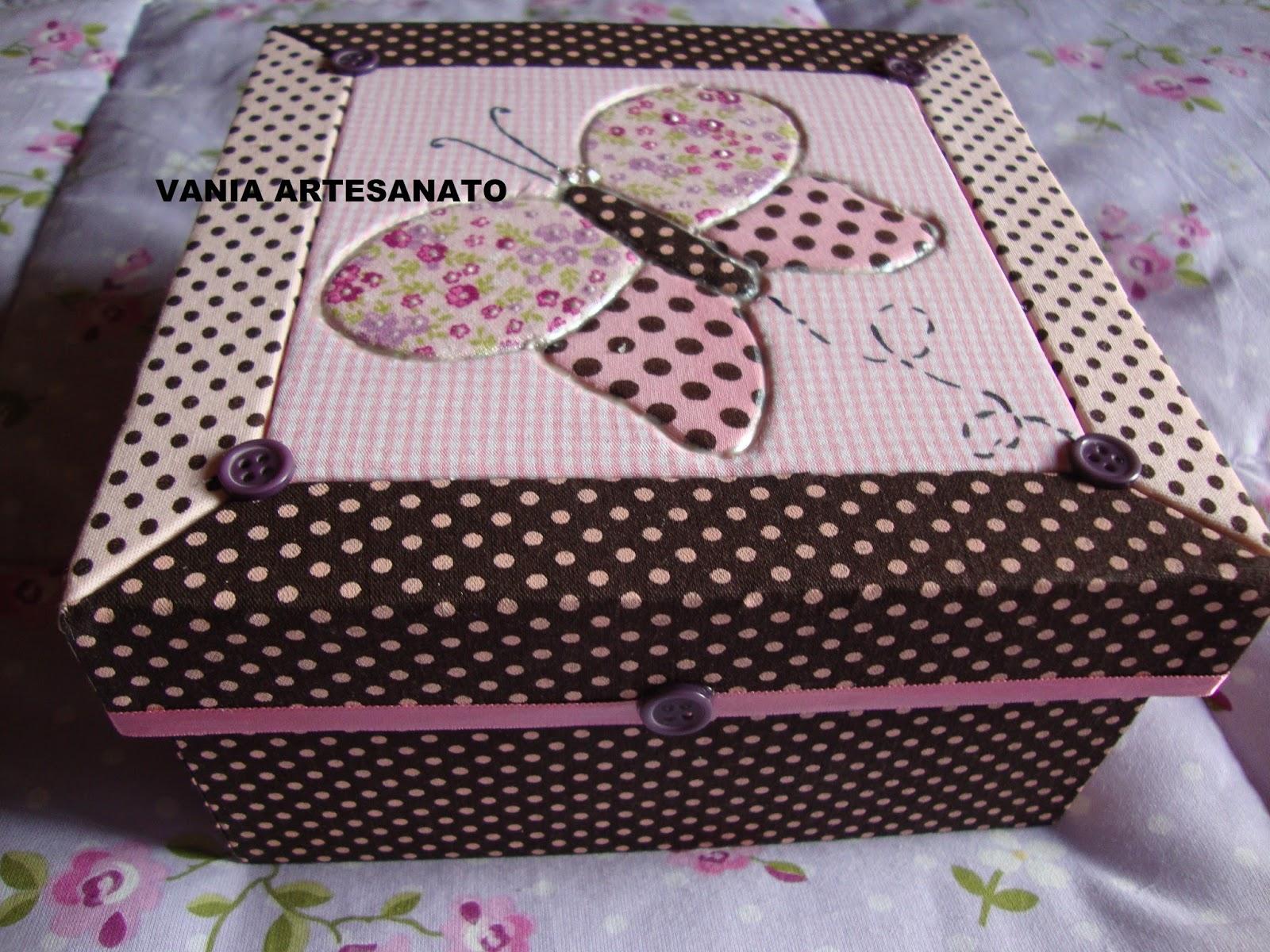 Armario Aereo Cozinha Magazine Luiza ~ Vania artesanato CAIXA TECIDO COM PATCHWORK SEM COSTURA