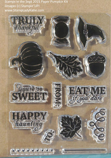 Stampin'UP! September 2015 Paper Pumpkin Kit Stamp Set
