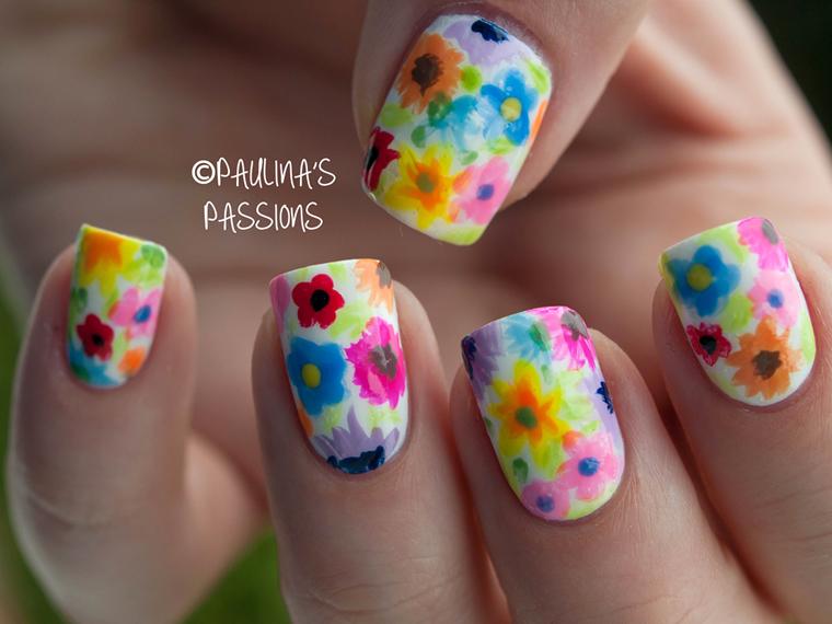 wiosenne wzorki na paznokciach