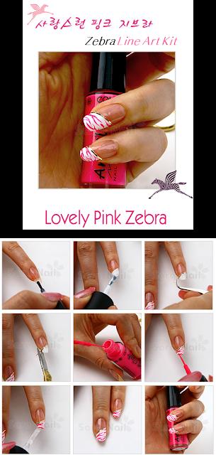 PINK Zebra Nail