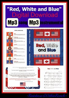 """Red, White and Blue"" Digital Download: Song and Support Material by Debbie Clement"
