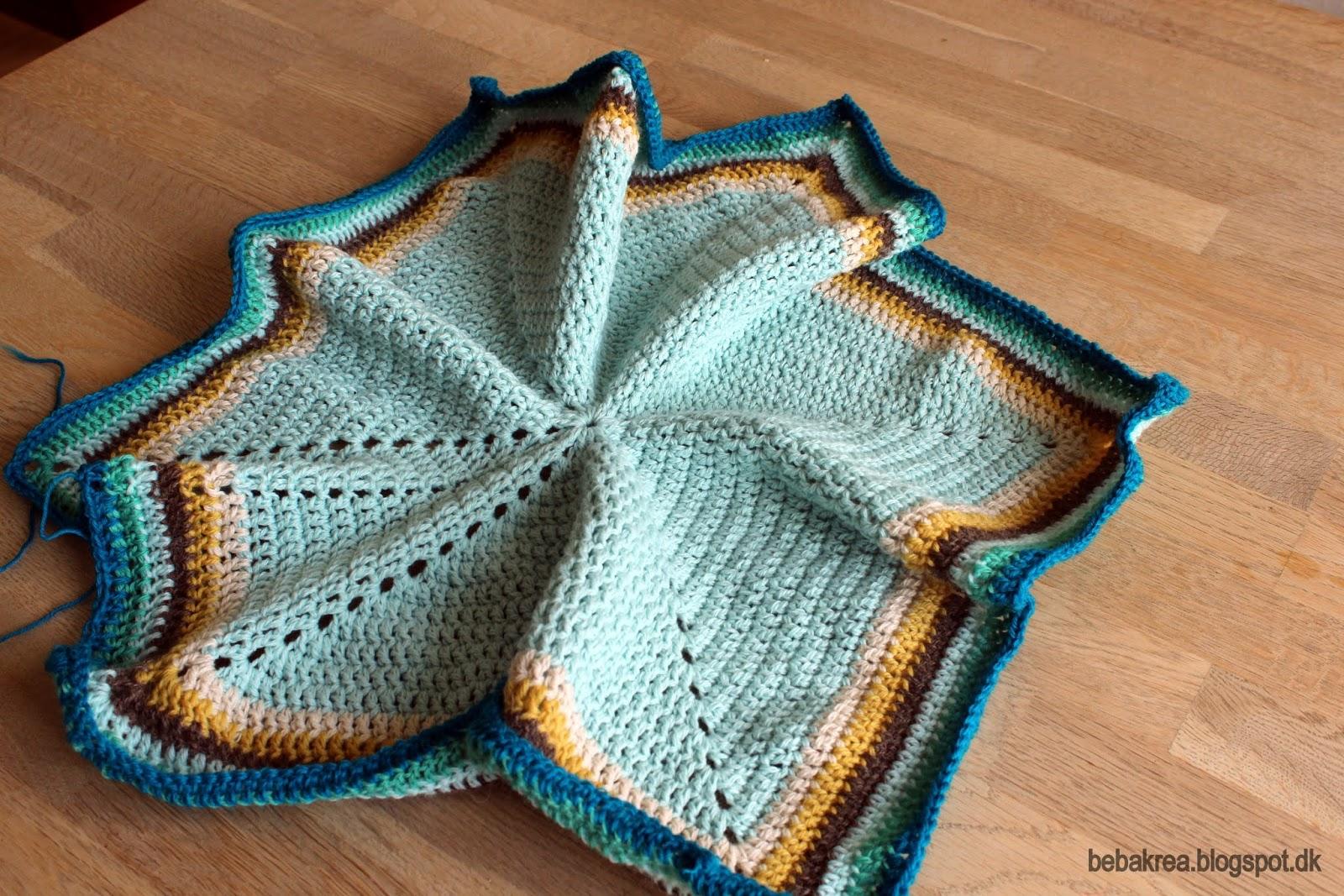 hæklet cardigan baby børn bedstemor hexagon