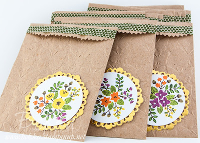 Treat Bags And A Sneak Peek of the new Into The Woods Papers from Stampin' Up! UK