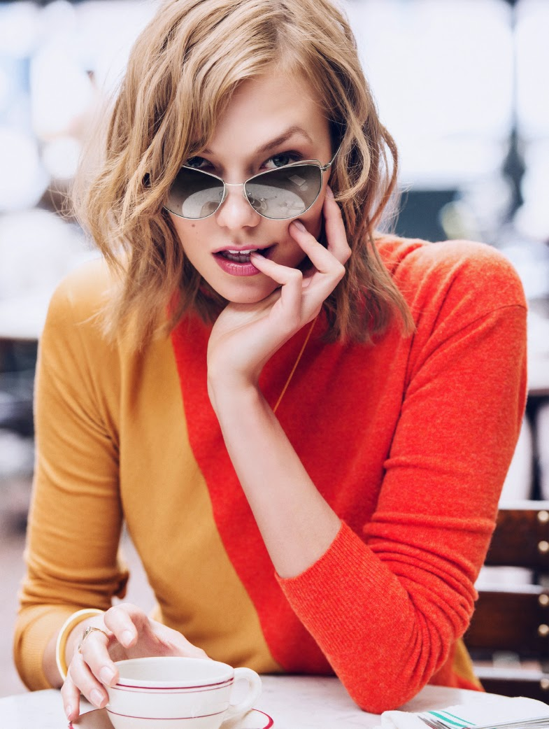 karlie kloss for warby parker