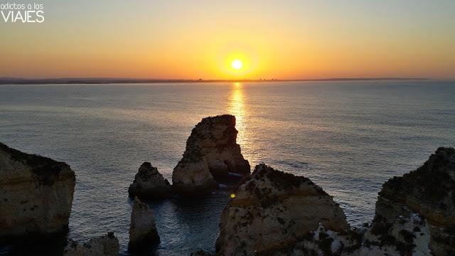 Amanecer en Ponta da Piedade, Algarve
