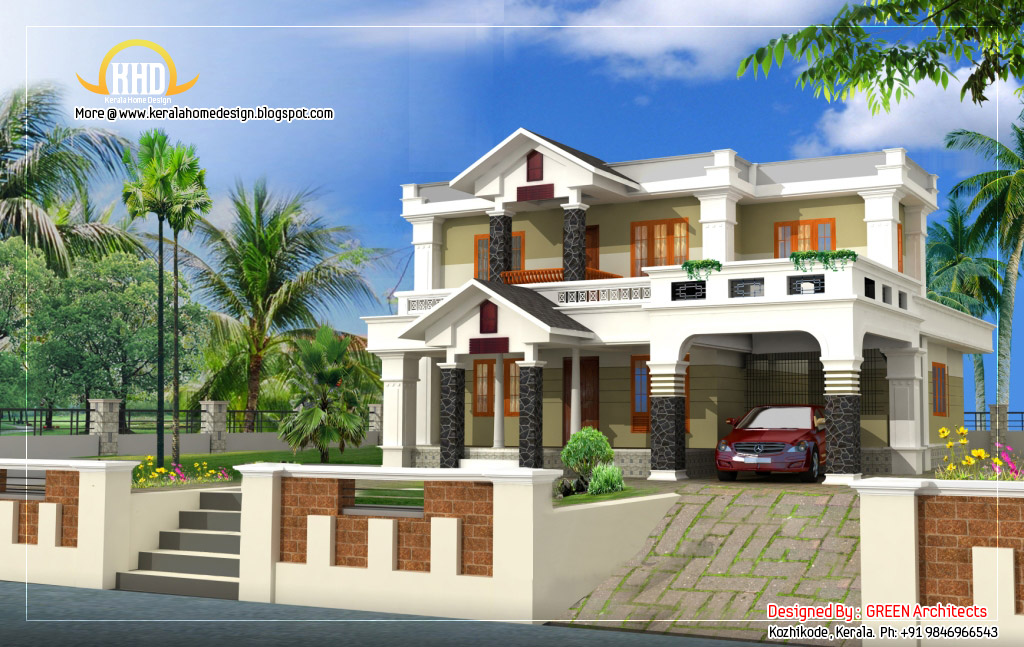 Beautiful house elevation design - 2400 Sq. Ft. - Kerala home ...