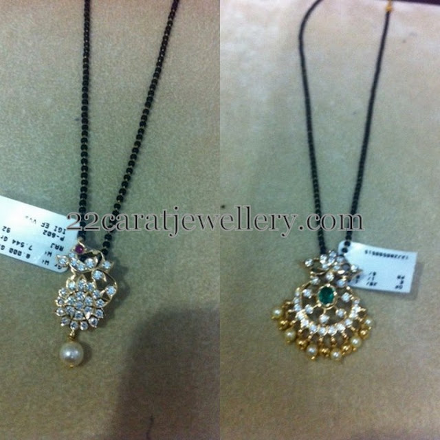 Mangalsutra with Diamond Peacock Lockets