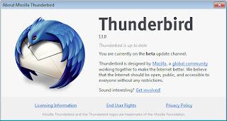 Mozilla Thunderbird 13