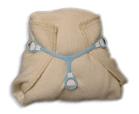The DIAPER Act also allows for cloth diapers. Prefold cloth diaper with snap-eze.