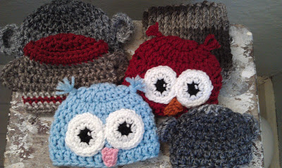 Free Pattern for Preemie Owl Hat #RosiesCozies
