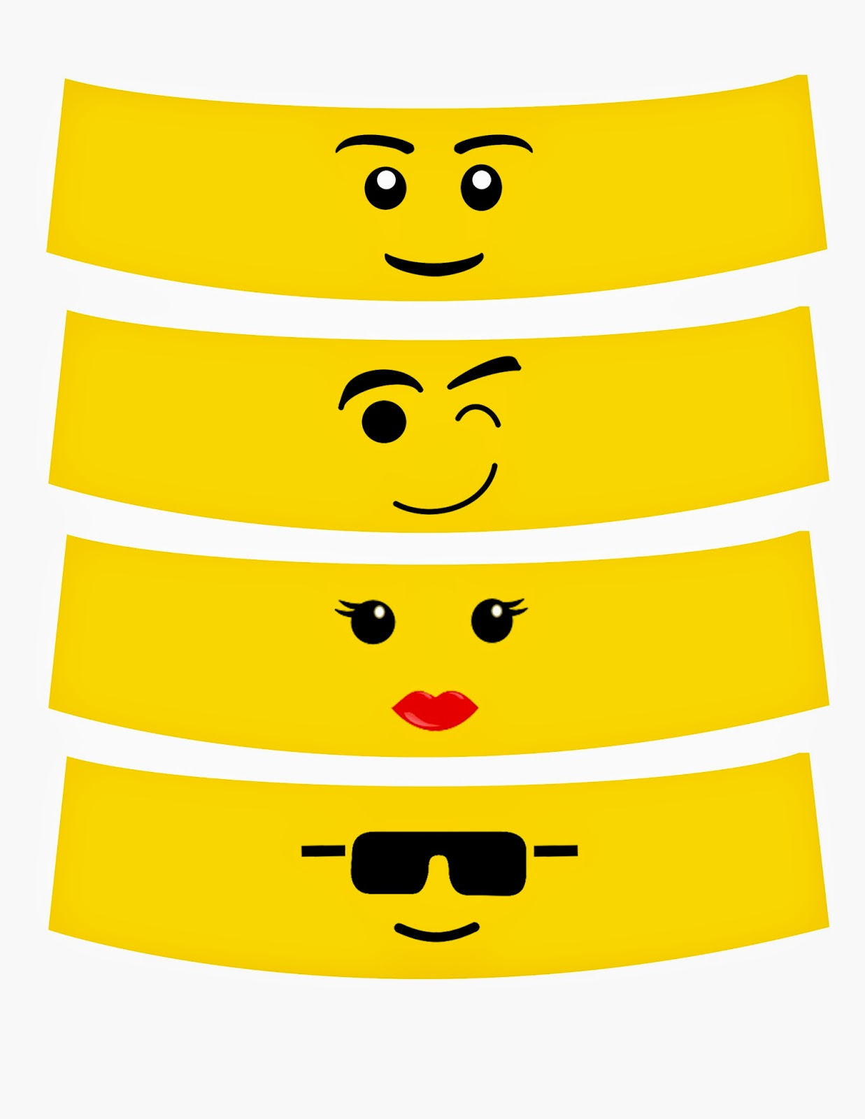 Handy image within lego faces printable
