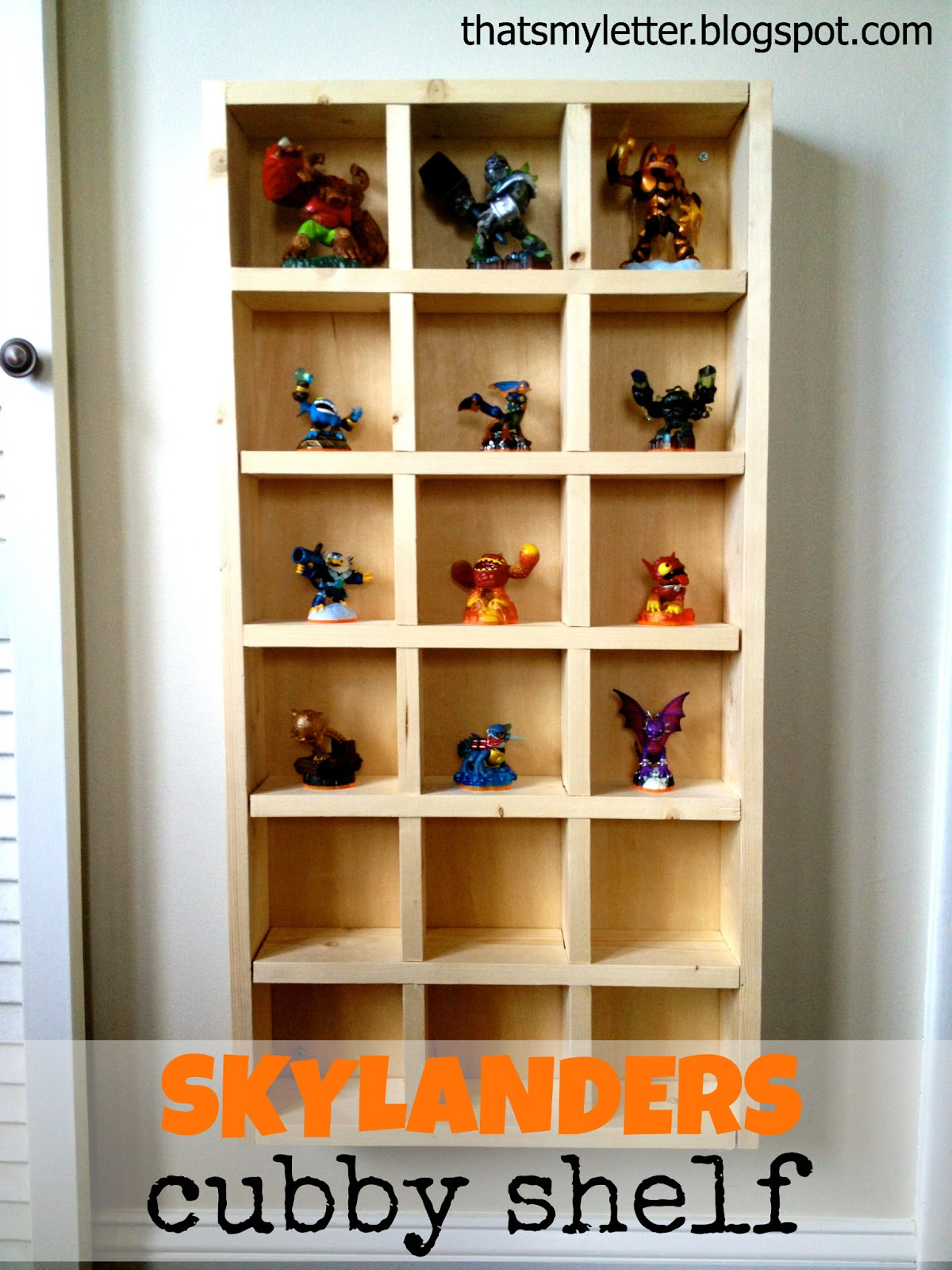 Build The Perfect Cubby Storage Shelf For Skylanders (or Any Play  Figurines) Using Modified Cubby Shelf Plans From Ana White.