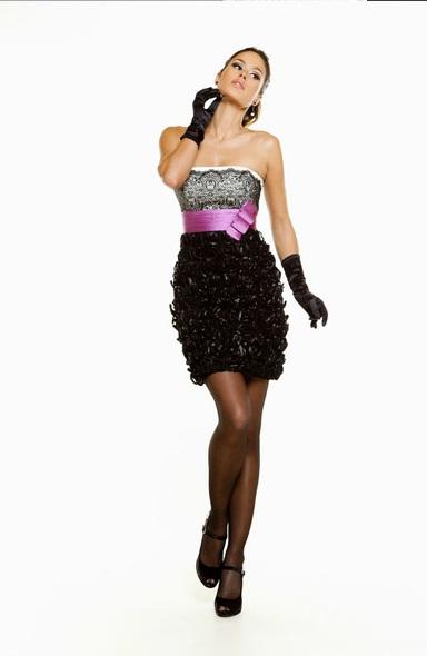 Vestidos de fiesta rosa negra