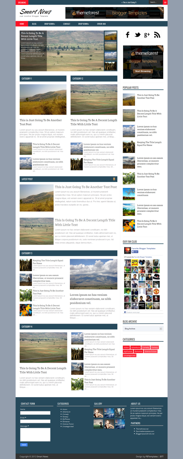 Smart News Blogger Template