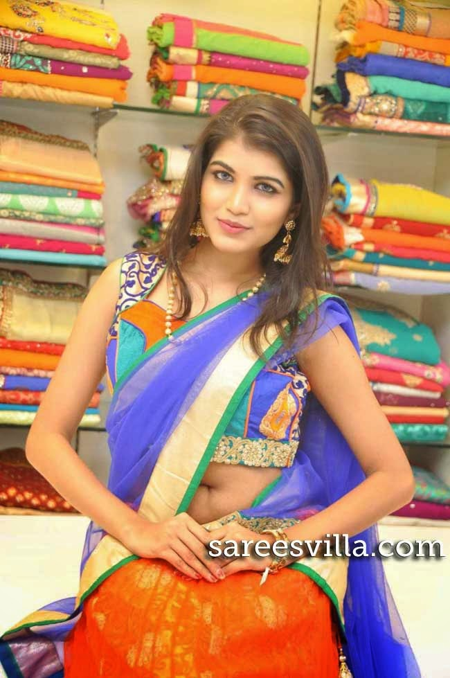 Model Isha in Half Saree