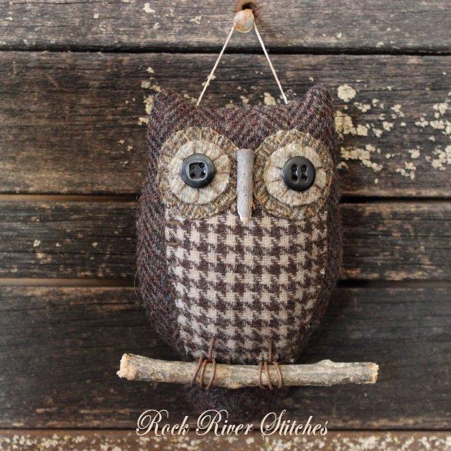 Primitive Owl Ornie Pattern