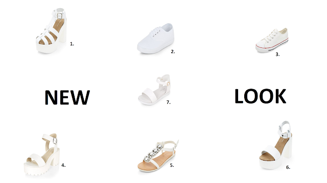 New Look, shoes, footwear, fashion, white