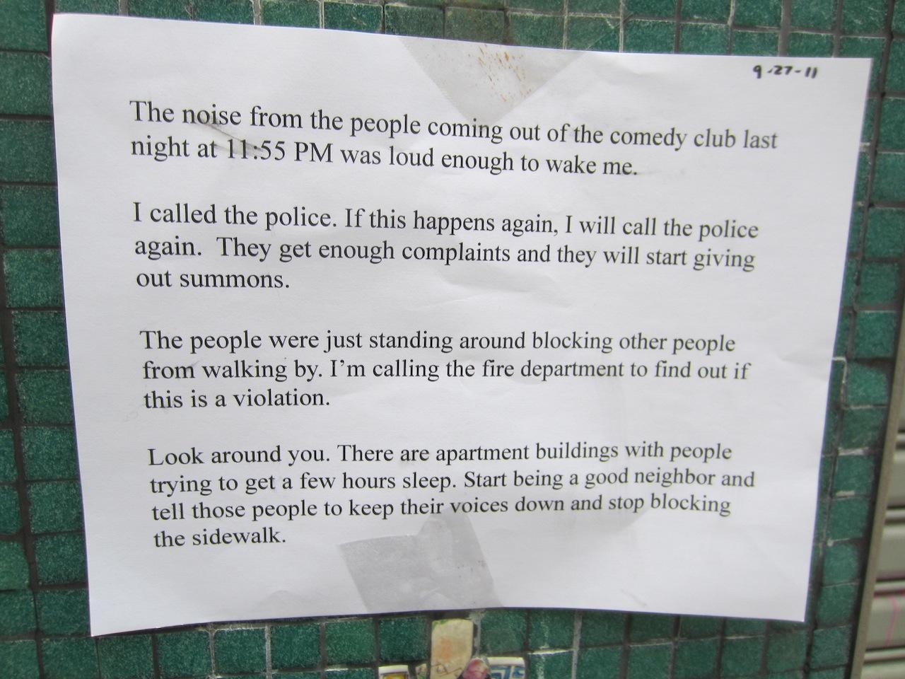 Ev grieve neighbors leave first urban etiquette sign for ucbeast altavistaventures Gallery