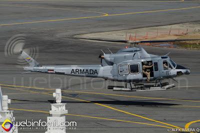 Helicóptero Bell 412EP de la Armada Nacional de Colombia.