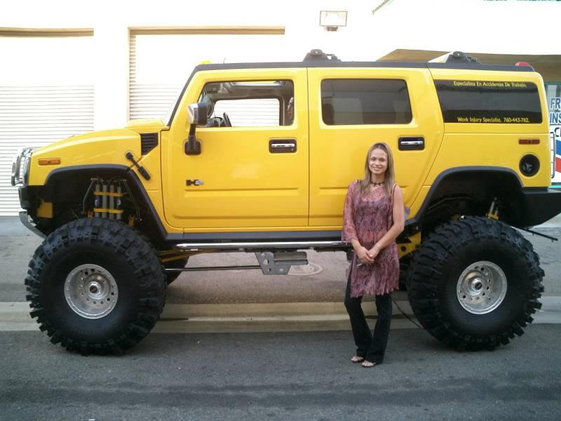 Hummers Online Lifted Yellow Hummer H2