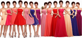 2014 New Release One-Design Multi-Color V-Neck 3-Flowers Midi/Maxi Bridesmaids Dress