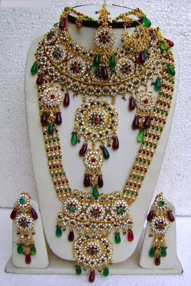 Heavy Bridal Jewellery Sets Designs For Brides 2015