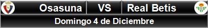 Osasuna vs Real Betis
