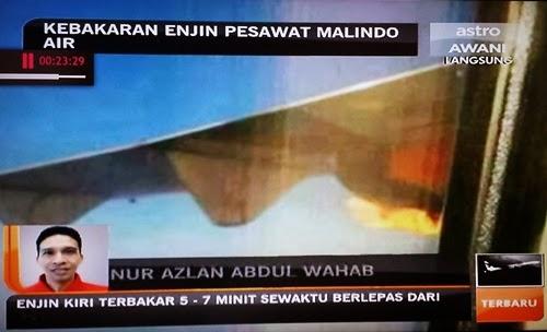 Penumpang berkongsi pengalaman detik-detik cemas Malindo Air, enjin pesawat malindo air terbakar, Nur Azlan Abdul Wahab , gambar enjin pesawat malindo air terbakar