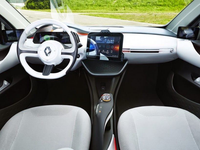 Renault electric car model dashboard