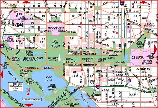 Map Of Washington Dc Usa
