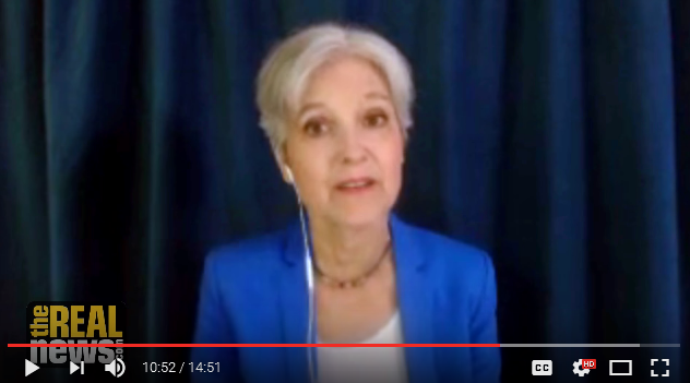 More Jill Stein, juxtaposed against RNC conventioneering mood and policy.