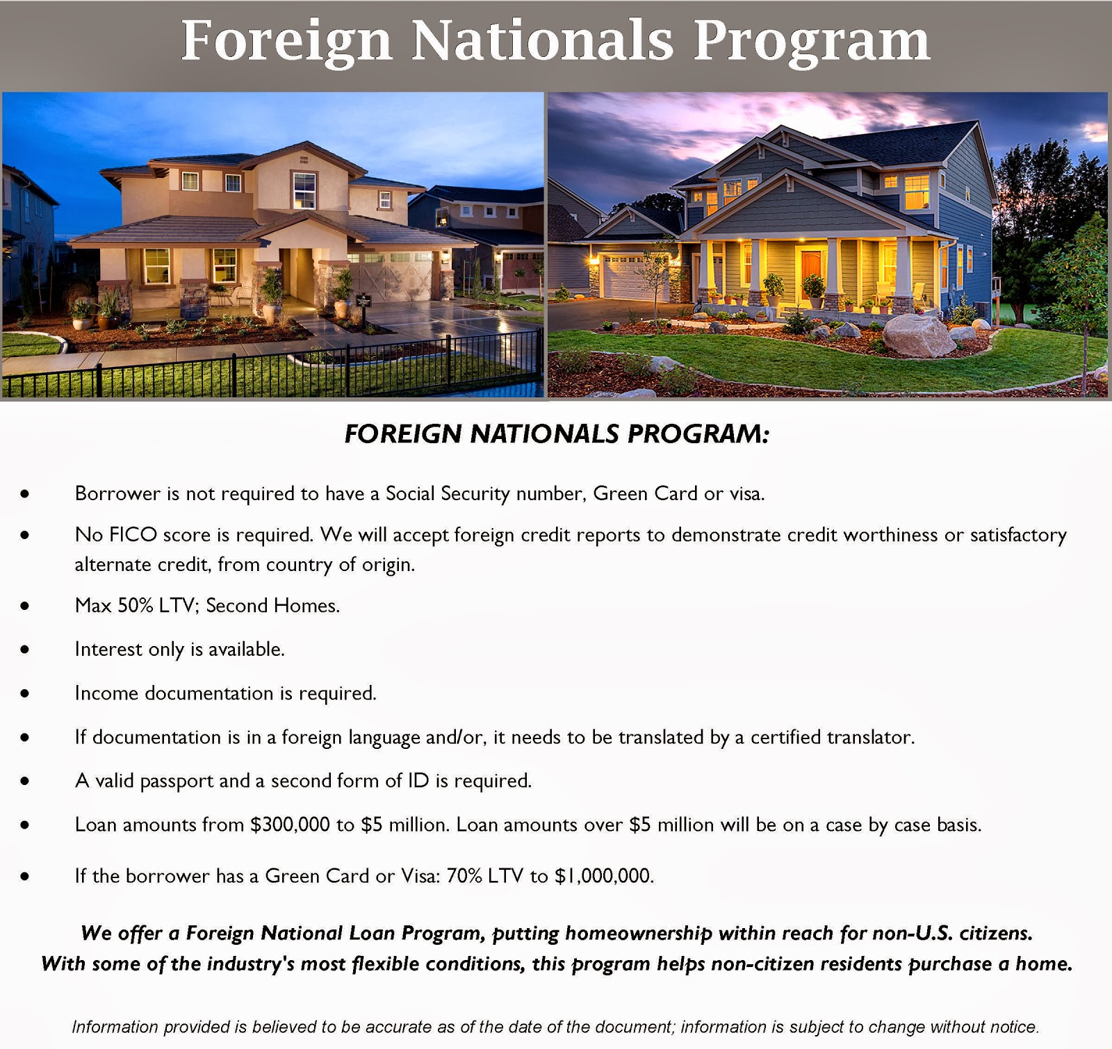how to get a loan for foreign property