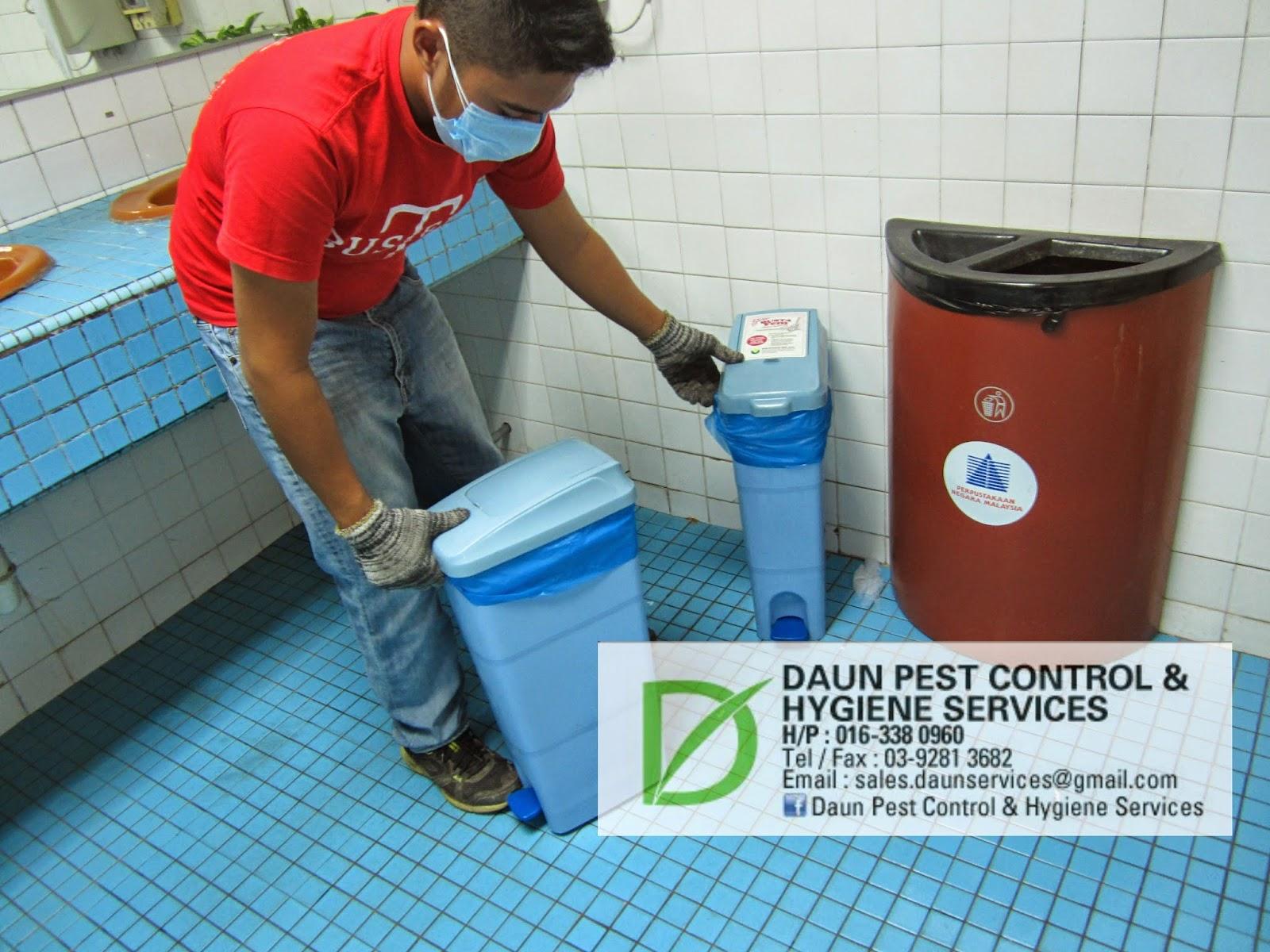 how to use a sanitary bin