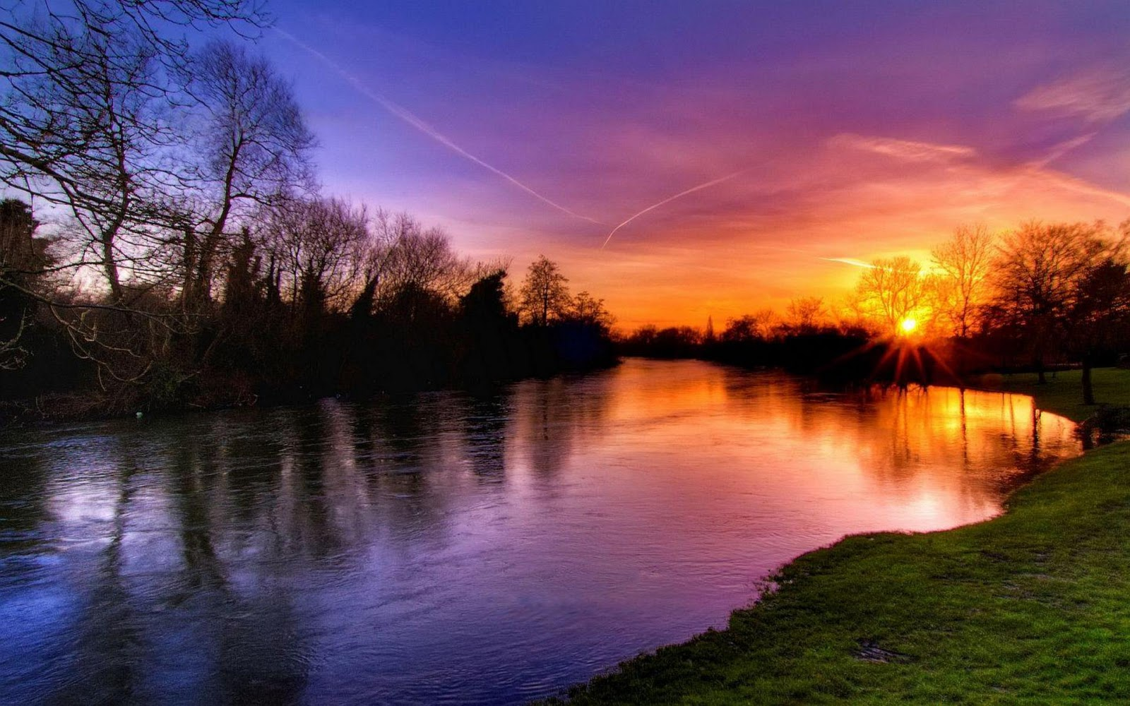 amazing sunset in near the lake hd wallpapers hd wallpaper