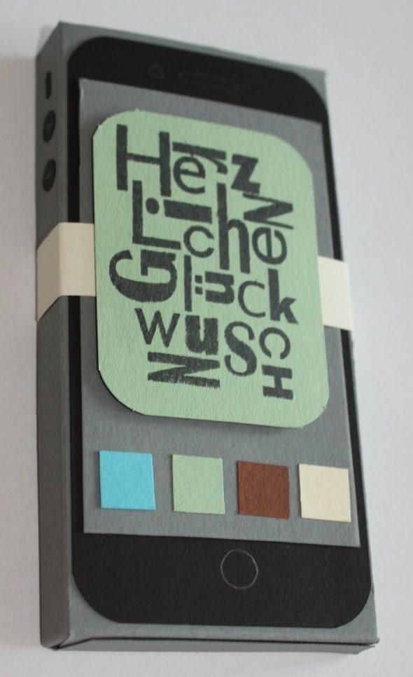 stempelfroschsblog geldgeschenk f r neues handy. Black Bedroom Furniture Sets. Home Design Ideas