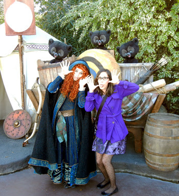 Fun with Merida at Dapper Day 2013