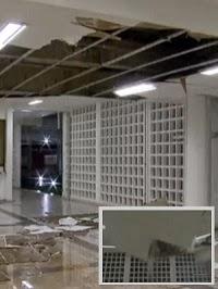 VÍDEO: veja momento em que teto da Unb desaba durante temporal