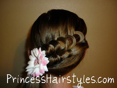 coiled spiral braid