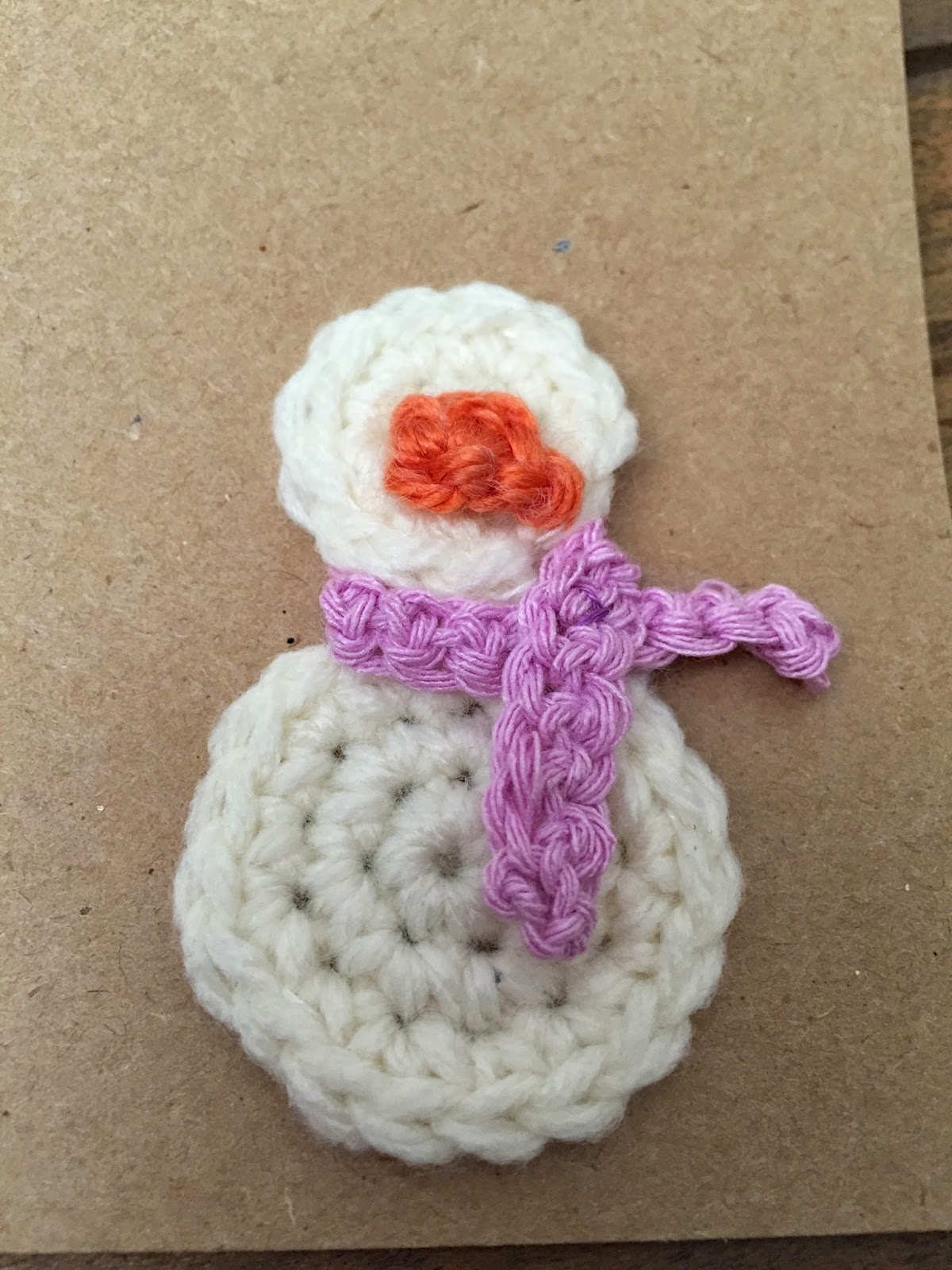 Handcrafted Vintage: 12 Crafts of Christmas || Crochet Snowman Card