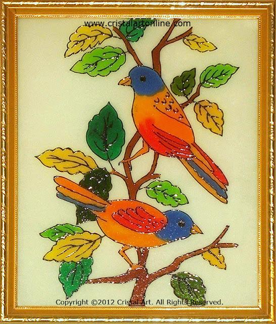 Cristal Art Blog Love Birds On A Tree Branch