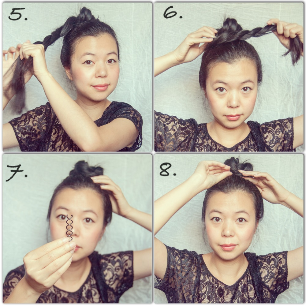 twisty high bun hair tutorial top ballerina
