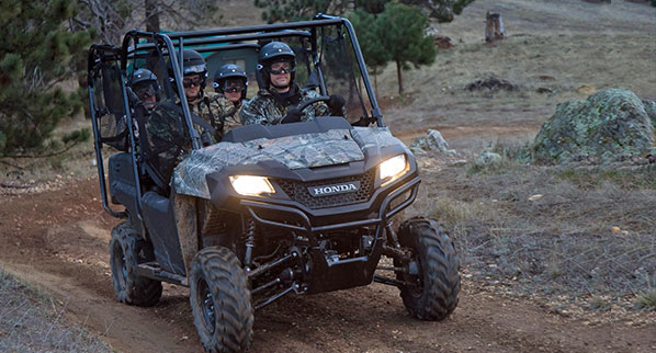 Honda Pioneer 4 side by side in Honda Phantom Camo.