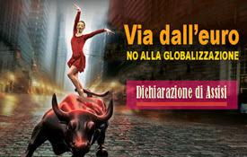 Dichiarazione delle sinistre europee anti-euro. Assisi 23 agosto 2014