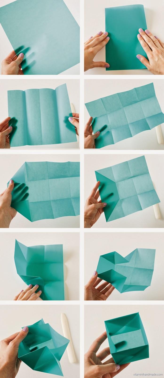 ... 使ったボックスの折り方です : a4 紙 箱 折り方 : 折り方