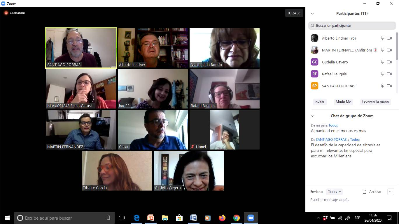 Reunión virtual de abril 2020